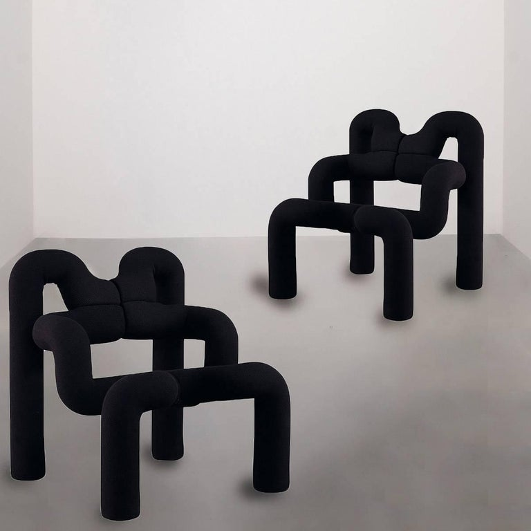 A pair of iconic Armchairs by Terje Ekstrom, Norway, 1980s 2