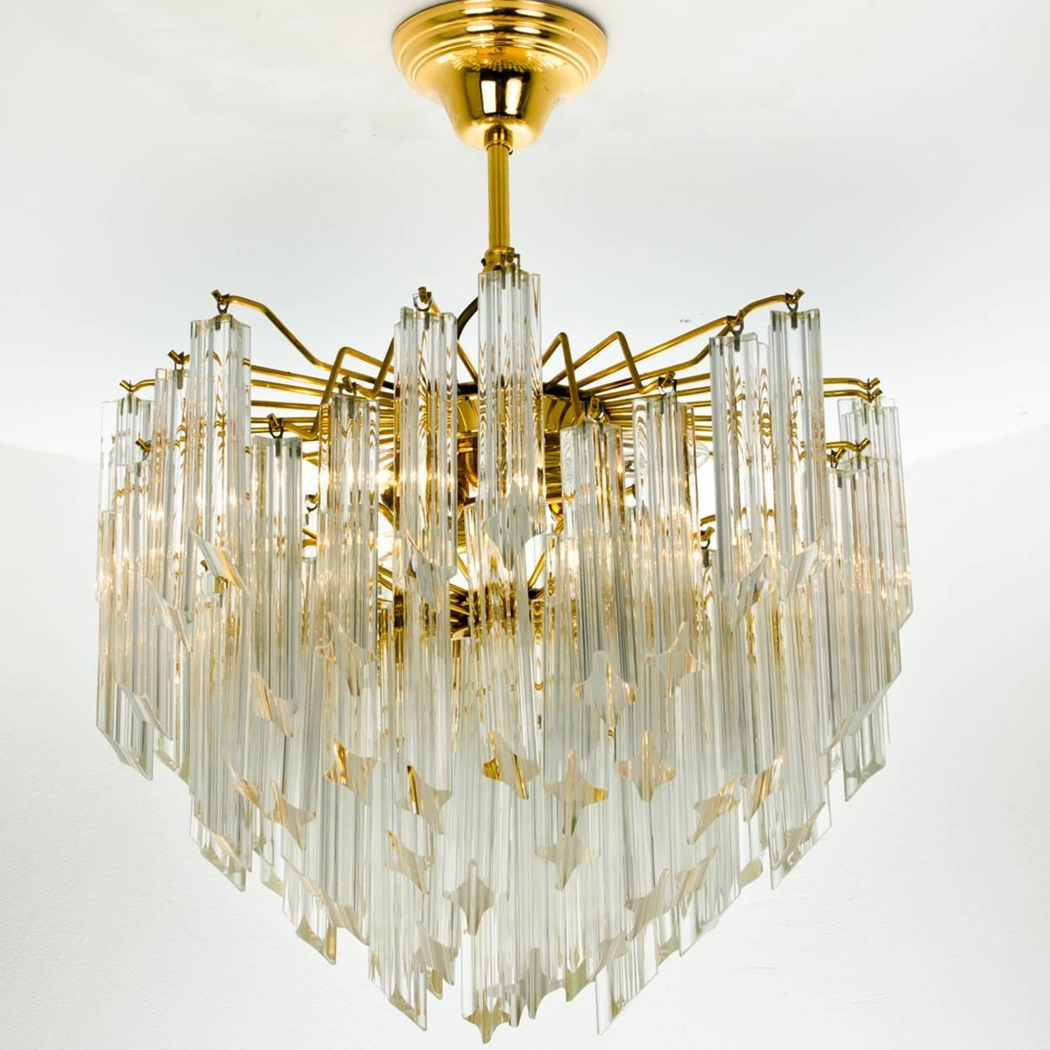 Large three tier cristal venini chandelier 1960 for sale at 1stdibs arubaitofo Gallery