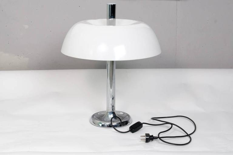 Pair of Space Age Table Lamps by Hillebrand, 1970s In Good Condition For Sale In Rijssen, NL