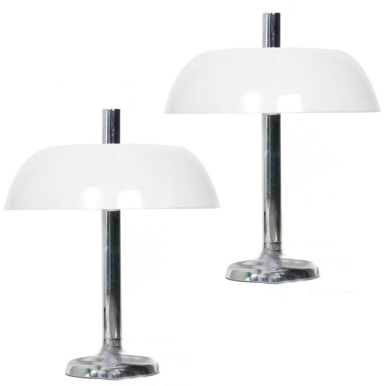 Pair of Space Age Table Lamps by Hillebrand, 1970s For Sale