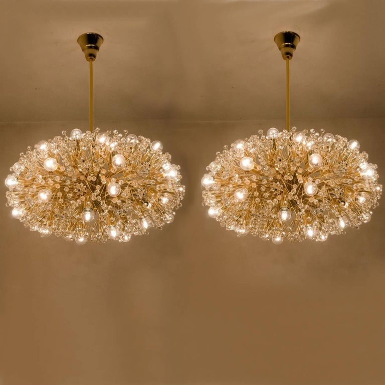 Pair of huge gold plated chandelier by emil stejnar for rupert pair of huge gold plated chandelier by emil stejnar for rupert nikoll for sale 3 aloadofball Image collections