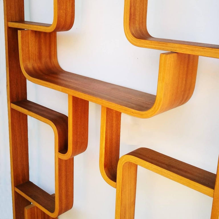 Mid-Century Modern Four Room Dividers, Wall Units by Ludvik Volak, Good Condition, 1950s For Sale