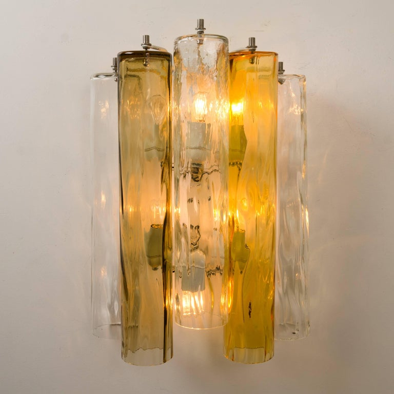 Very Large Wall Lights : Extra Large Wall Sconces or Wall Lights Murano Glass, Barovier and Toso, 1960s For Sale at 1stdibs