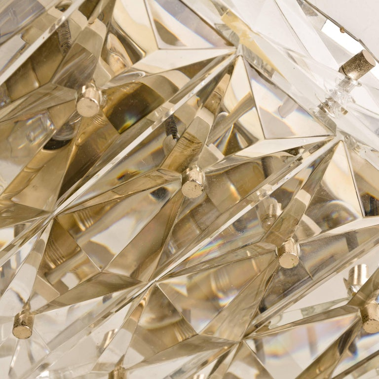 Crystal Glass And Brass Flush Mount Light Kalmar