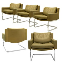 Set of Five Executive Armchairs by Robert Haussmann for the Sede, 1957