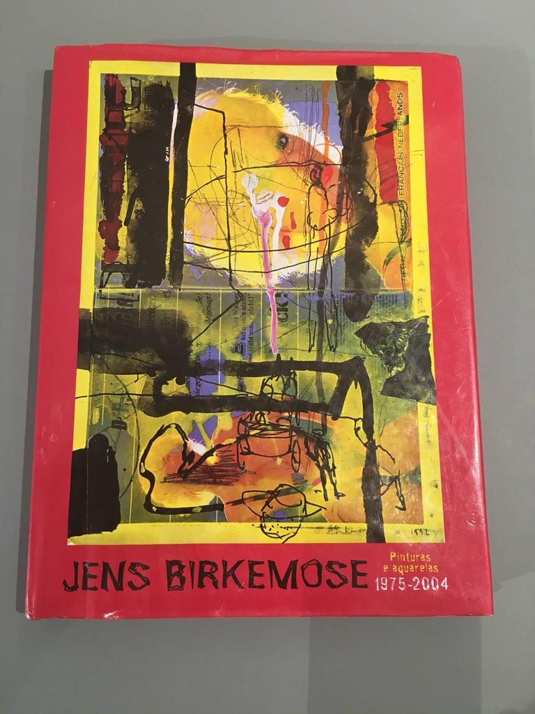 Abstraktes Gemälde von Jens Birkemose, Wasserfarben und Acryl auf Papier 5