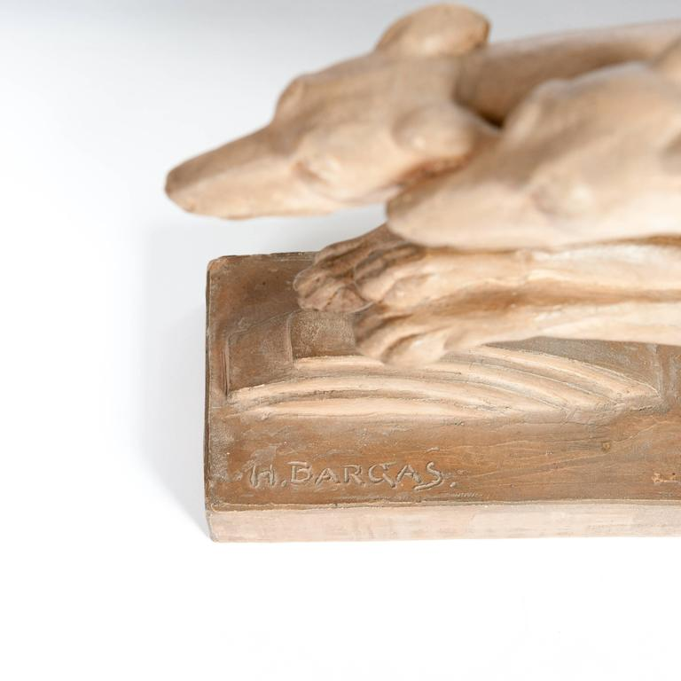 Budweiser Blimp Pool Table Light Craigslist: Art Deco Table Lamp Of Greyhounds In Terracotta, Signed H