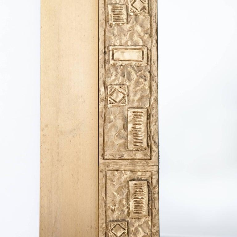 Italienischer Midcentury Bronze Wandspiegel, Signiert von Angelo Brotto 2