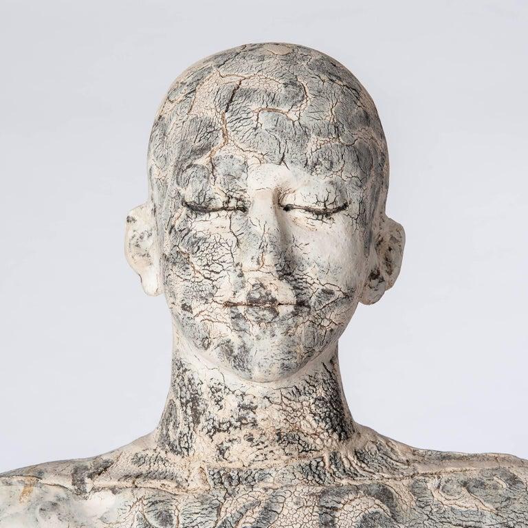 Zeitgenössische Lebensgroße Keramik Figur einer Frau von Dora Várkonyi 5