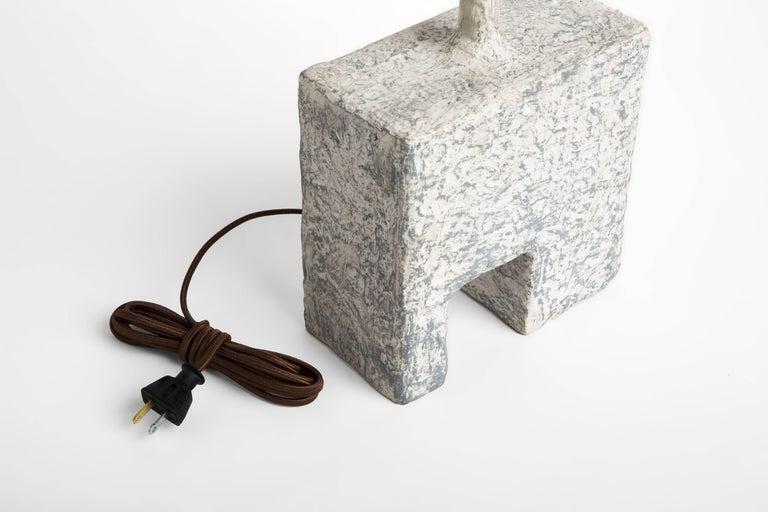 American Cast Resin Cubo Table Lamp, Kacper Dolatowski For Sale
