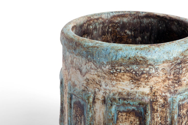 Mid-Century Modern Vintage, 1970s Ceramic Pot For Sale