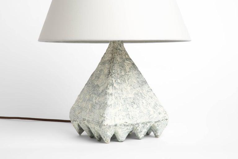 American Cast Resin Plaster Texture Cubetto Table Lamp, Kacper Dolatowski For Sale