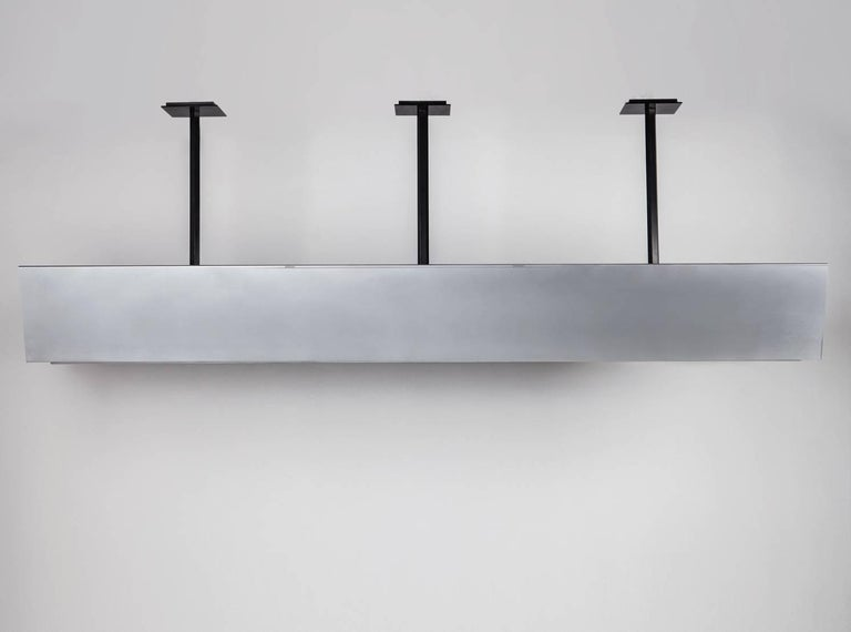 Modern FERRER Metal and Glass Large Linear Pendant 001 For Sale