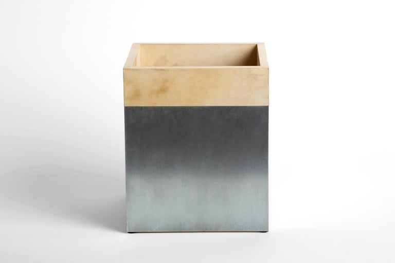 Made from a combination of calfskin and zinc, this is a unique edition from Erik Gustafson.