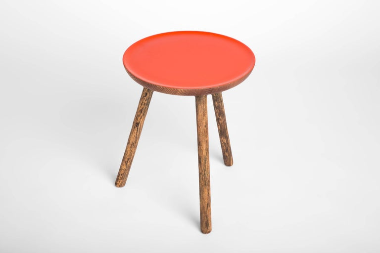 Staked Wood Side Table, Erik Gustafson 2