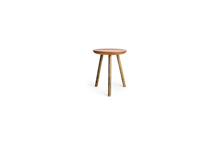 Modern Staked Wood Side Table, Erik Gustafson For Sale