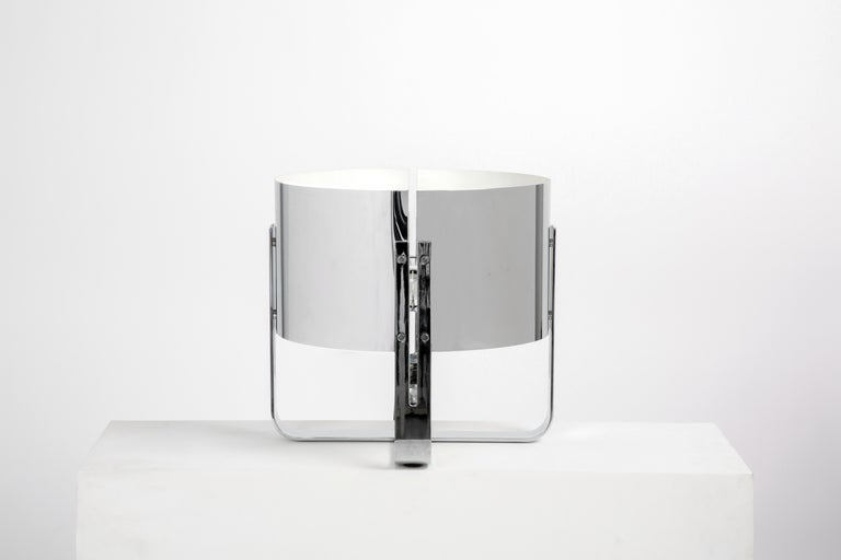 Modern Jacques Quinet Chrome Lamp For Sale