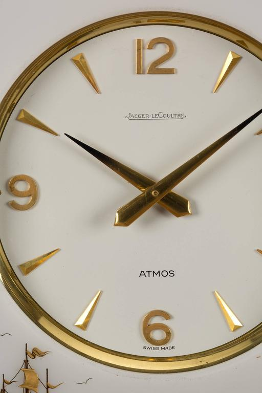 Gold Plated Marina Atmos Clock By Jaeger Le Coultre For