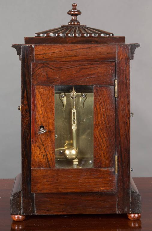Rosewood miniature bracket clock by king lynn for sale at for Furniture kings lynn