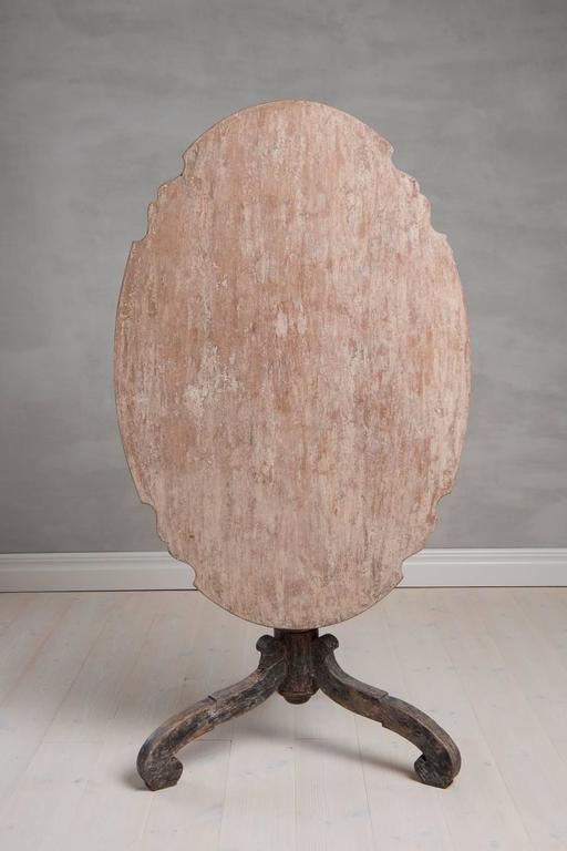18th Century Swedish Period Baroque Tilt-Top Table with Original Paint 2