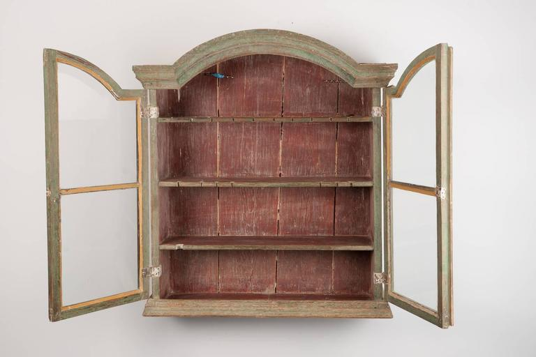 18th Century Wall Cabinet From The Rococo Period With Showcase Doors At 1stdibs