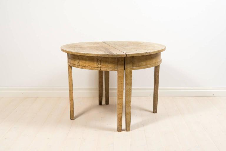 Gustavian Pair of 19th Century Demilune Table For Sale