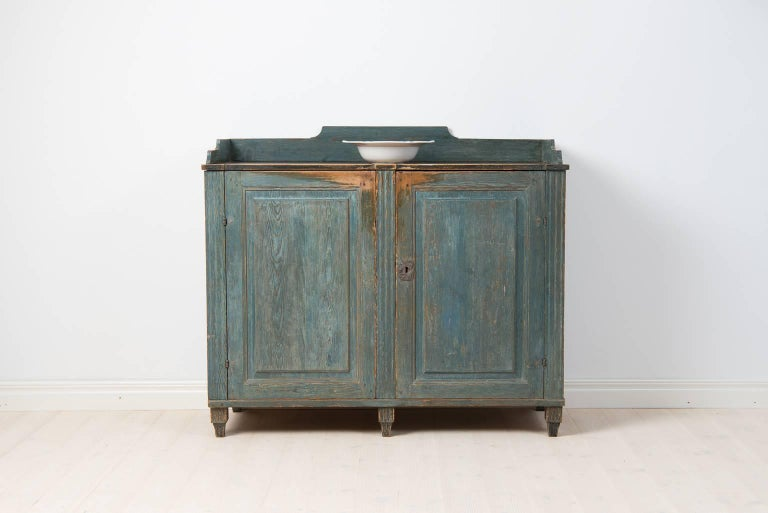 Swedish 18th Century Gustavian Sideboard Dry Scraped to Original Paint For Sale