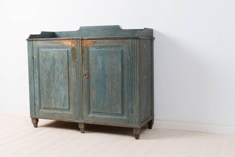 18th Century Gustavian Sideboard Dry Scraped to Original Paint For Sale 1
