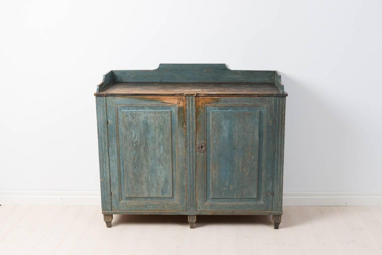 18th Century Gustavian Sideboard Dry Scraped to Original Paint For Sale 2