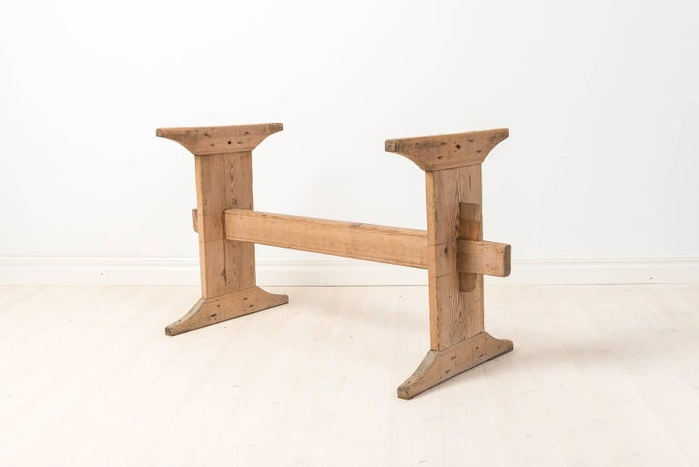 18th century swedish trestle table in pine at 1stdibs for Table th width not working