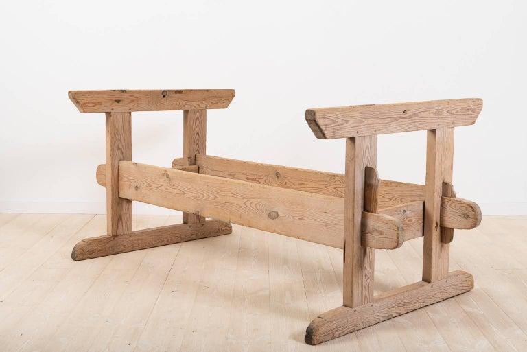 Folk Art 19th Century Swedish Farm Table For Sale