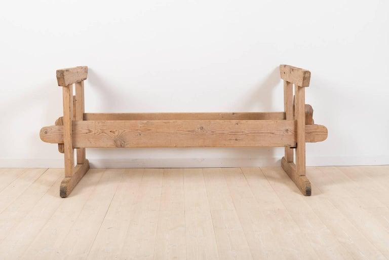 Pine 19th Century Swedish Farm Table For Sale