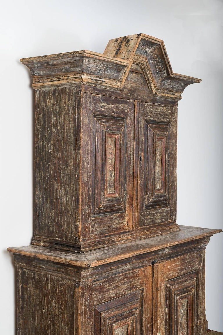 18th Century Swedish Baroque Cupboard In Good Condition For Sale In Kramfors, SE