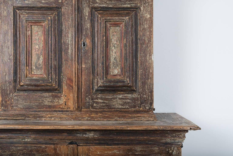 18th Century Swedish Baroque Cupboard For Sale 2