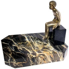 Art Deco Austrian Bronze of Nude Attributed to Lorenzl
