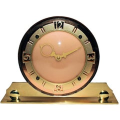 Glamorous 1930s English Art Deco Mirror Clock