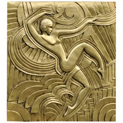 Art Deco 'Folies Bergeres' Wall Plaque