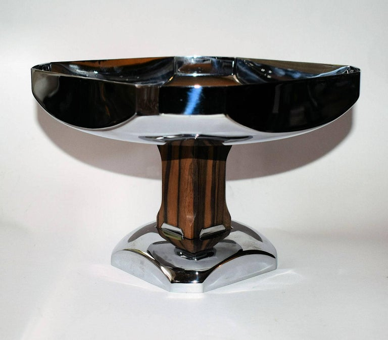 20th Century Art Deco Modernist Comport, 1930s, French For Sale