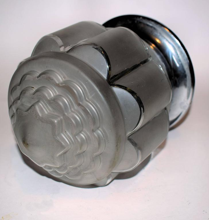 French 1930s Art Deco Skyscraper Ceiling Light For Sale