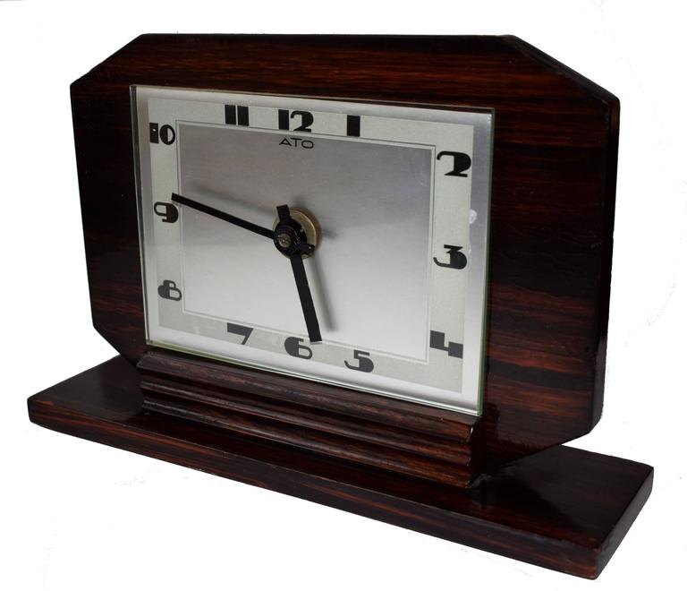 French 1930s Art Deco Modernist Clock by ATO For Sale