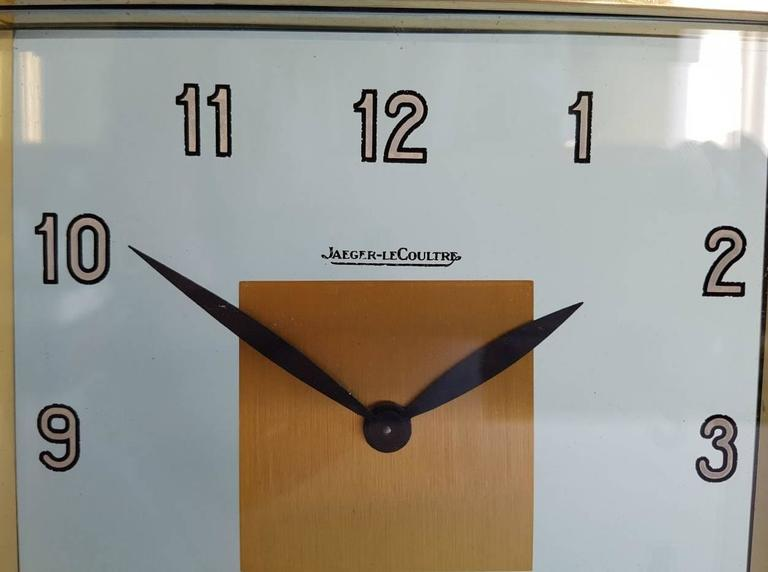 Rare Art Deco Clock by Jaeger-LeCoultre c1930 at 1stdibs