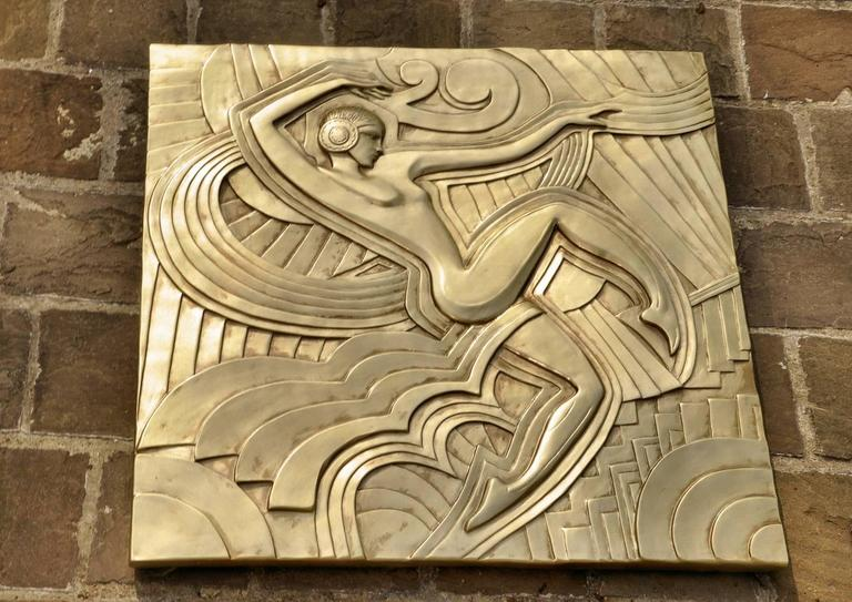 Art Deco \'Folies Bergeres\' Wall Plaque at 1stdibs