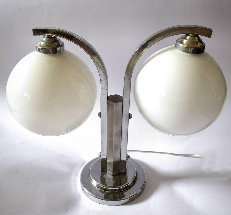 Art deco modernist double shade table lamp for sale at 1stdibs art deco modernist double shade table lamp in good condition for sale in devon england aloadofball Choice Image