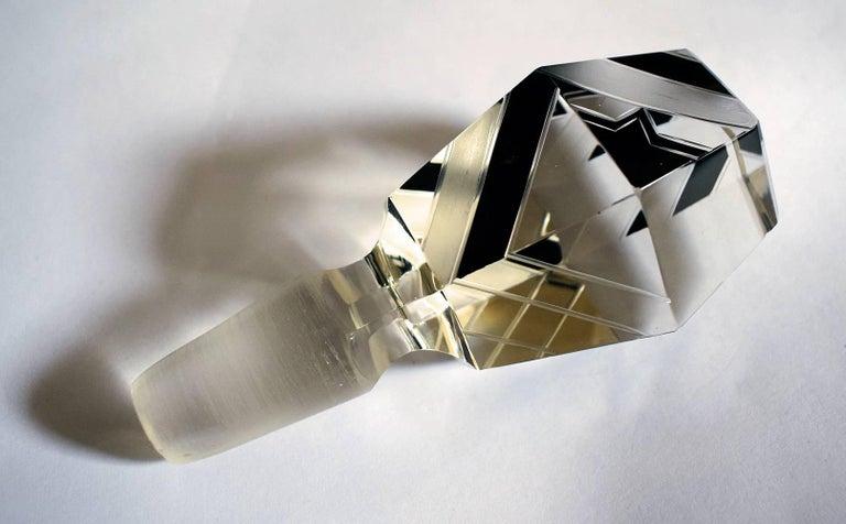 Art Deco Crystal Czech Decanter Set In Good Condition In Devon, England