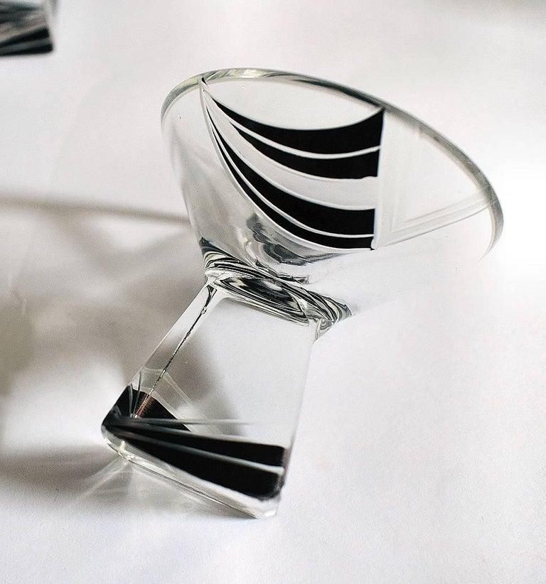 20th Century Art Deco Crystal Czech Decanter Set