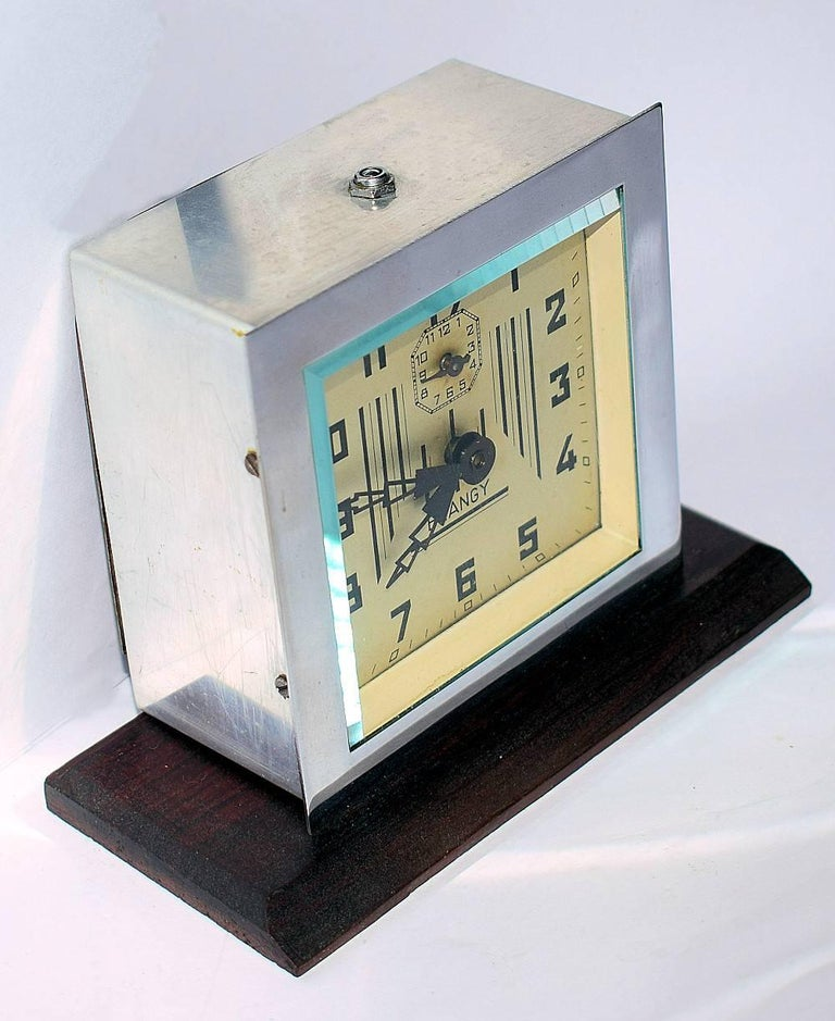 French 1930s Art Deco Clock by Blangy, France For Sale