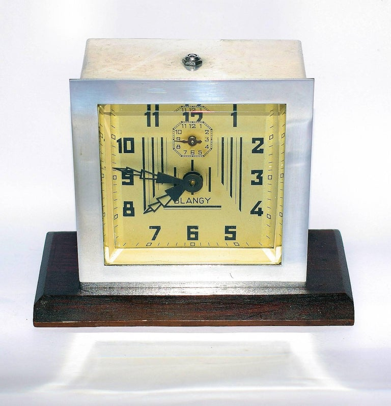 1930s Art Deco Clock by Blangy, France In Good Condition For Sale In Devon, England