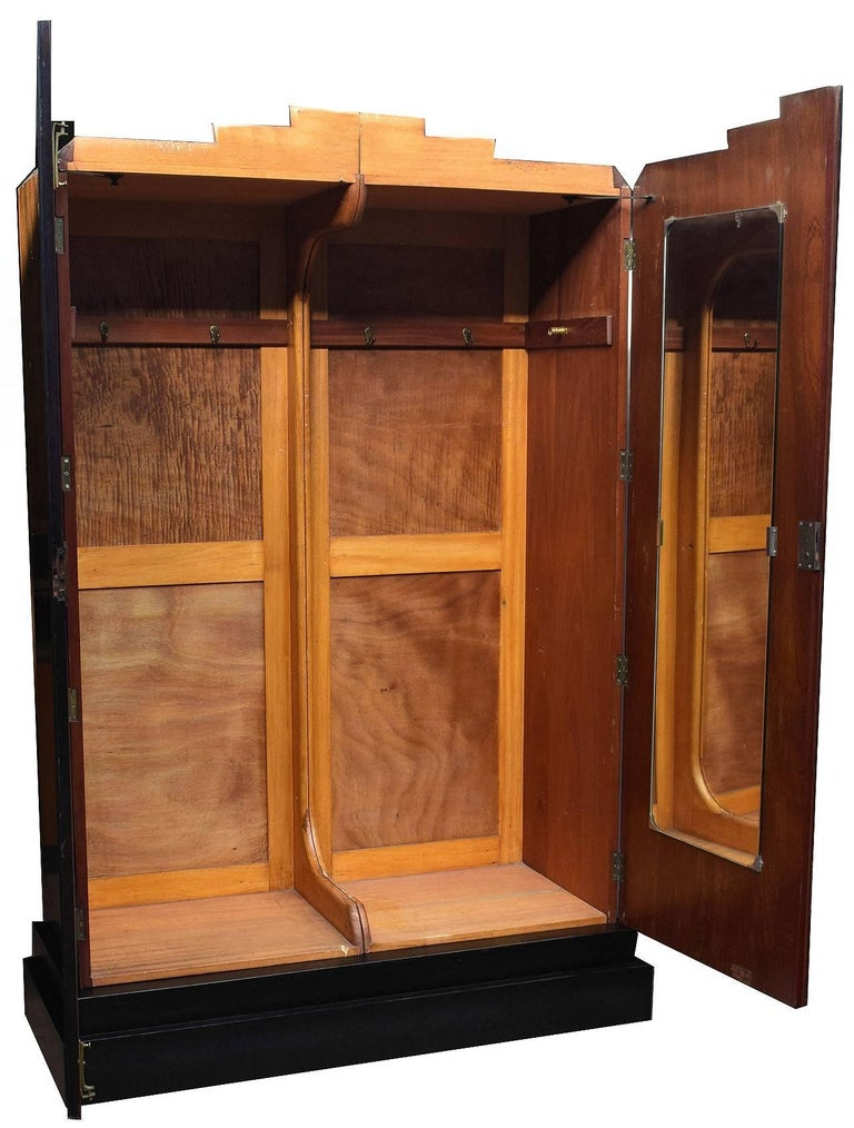 English art deco high style double wardrobe for sale at for Deco british style