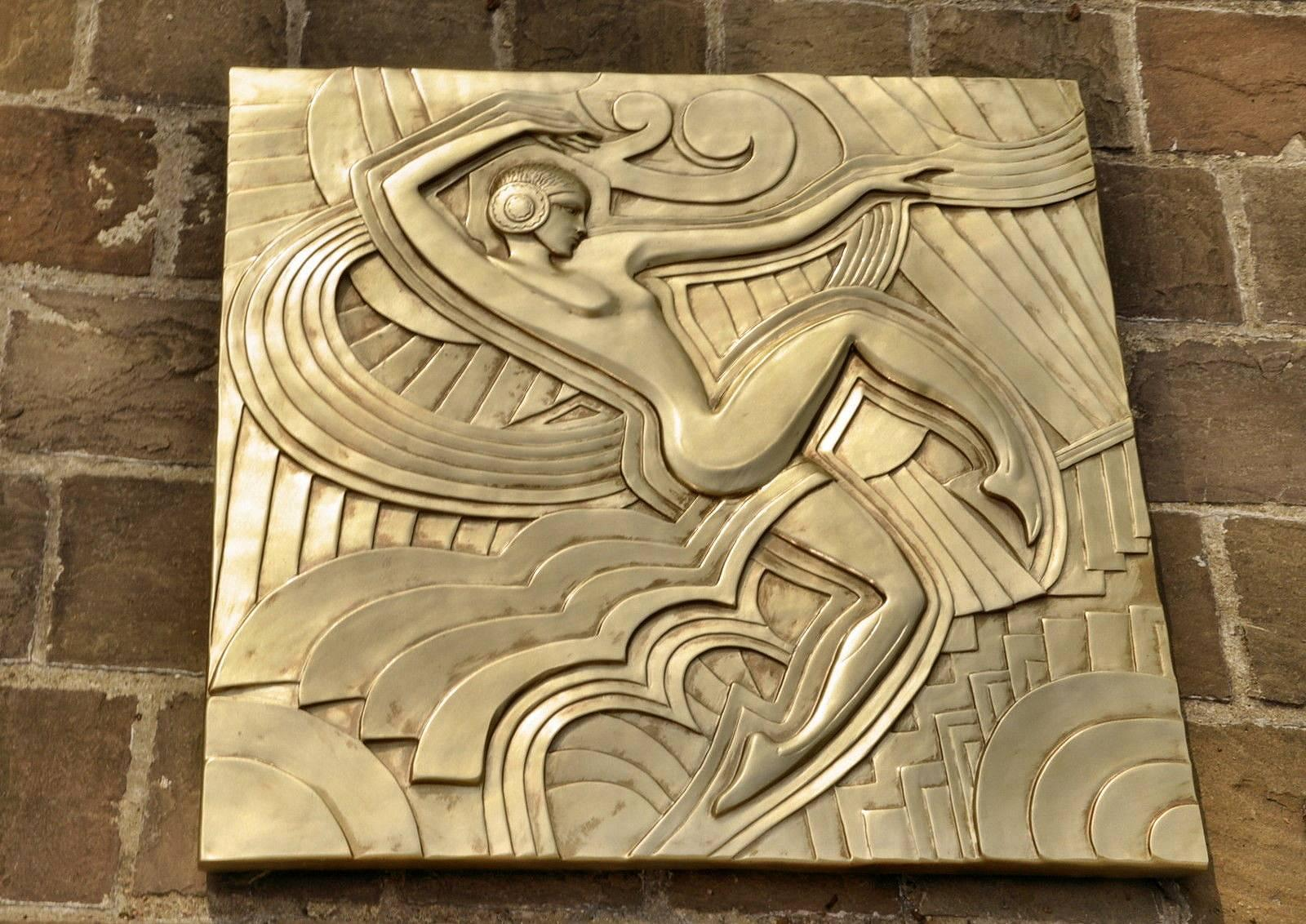 Art Deco \'Folies Bergeres\' Wall Plaque For Sale at 1stdibs