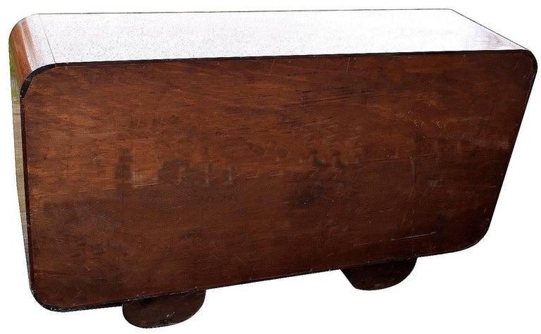 Art Deco Solid Wood Modernist Bookcase Shelves For Sale 1